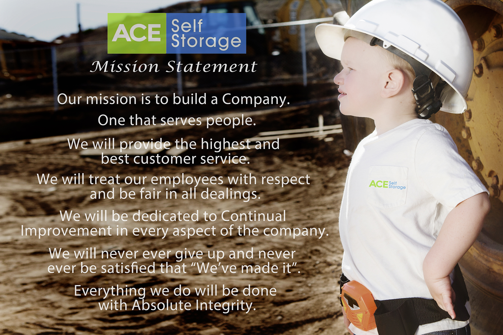 Ace Self Storage Mission Statement